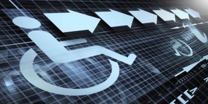 Graphic of wheelchair - title is Audiovisual Media Accessibility