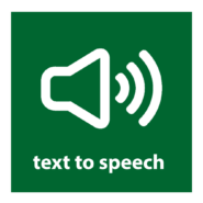 text to speech button
