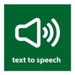 text to speech button