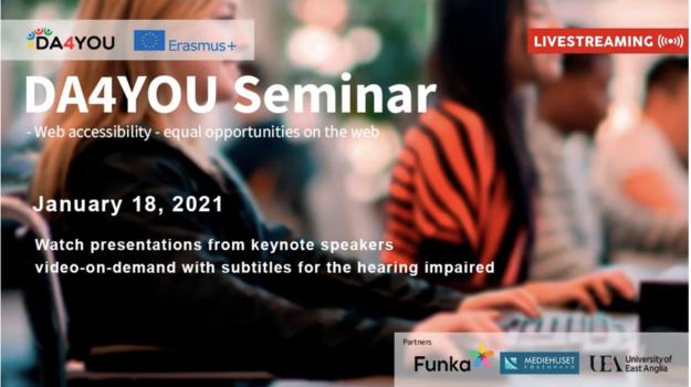 DA4You web accessibility seminar January 18th. 2021.