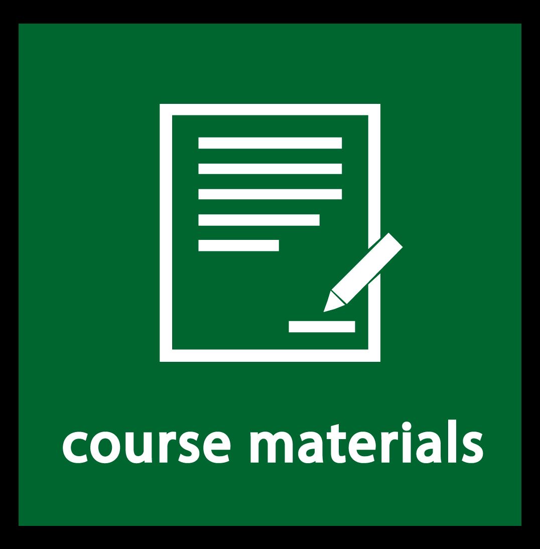 course materials button