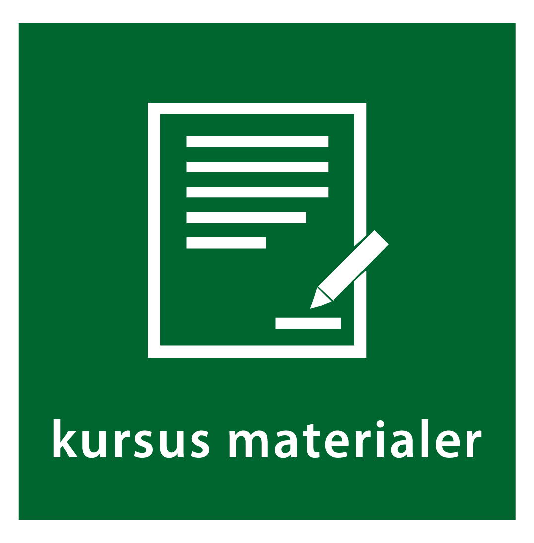 kursus materialer knap