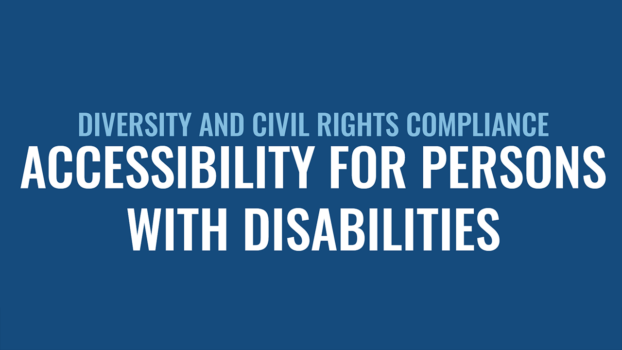 ACCESSIBILITY FOR PERSONS WITH DISABILITIES